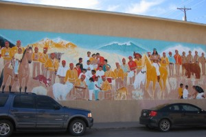 Navajo Code Talkers mural, Gallup, NM