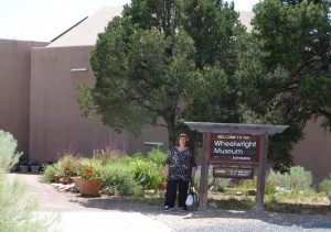Standing outside the Wheelwright Museum, Santa FE, NM