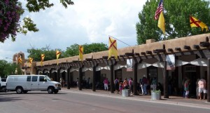 Palace of the Governors, Santa Fe, Palace of the Governors, the day before the crowds of Indian Market.